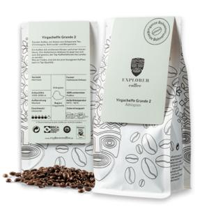 Explorer Coffee Yargaceffe Grande 2, sortenreiner Arabica Kaffee aus Äthopiem, Haileslassie Ambaye Farm, floraler Kafee mit Noten von Schwarzem Tee, Zitronengras, Rohrzucker und Bergamotte