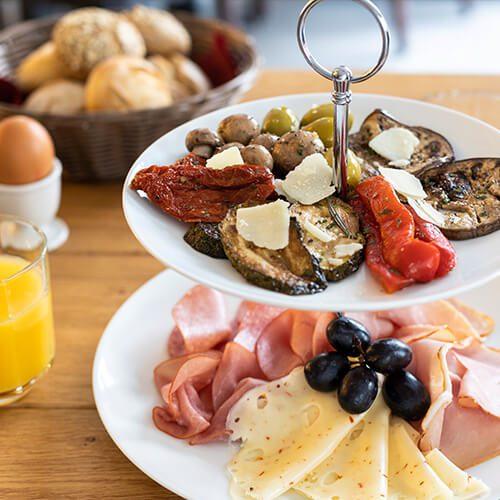Leckere Frühstückskarte